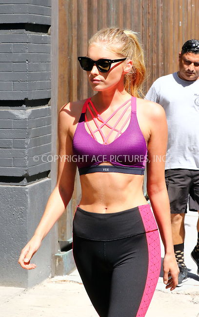 www.acepixs.com<br /> <br /> September 7 2016, New York City<br /> <br /> Model Elsa Hosk takes part in a Victoria's Secret photo shoot on September 7 2016 in New York City<br /> <br /> By Line: Zelig Shaul/ACE Pictures<br /> <br /> <br /> ACE Pictures Inc<br /> Tel: 6467670430<br /> Email: info@acepixs.com<br /> www.acepixs.com