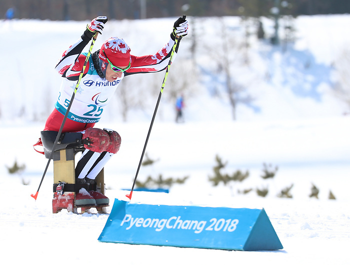 Pyeongchang, Korea, 11/3/2018-Chris Klebl competes in the 15k sitting cross country during the 2018 Paralympic Games in PyeongChang. Photo Scott Grant/Canadian Paralympic Committee.