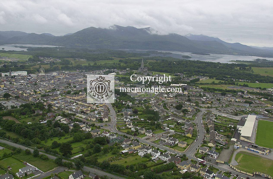 An aerial view of Killarney town..Picture by Don MacMonagle