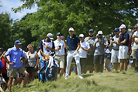 Jordan Spieth (USA) in action during the final round of the Northern Trust played at Liberty National Golf Club, Jersey City, USA. 11/08/2019<br /> Picture: Golffile | Michael Cohen<br /> <br /> All photo usage must carry mandatory copyright credit (© Golffile | Michael Cohen)