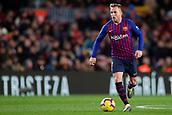 2nd February 2019, Camp Nou, Barcelona, Spain; La Liga football, Barcelona versus Valencia; Arthur Melo of FC Barcelona runs with the ball