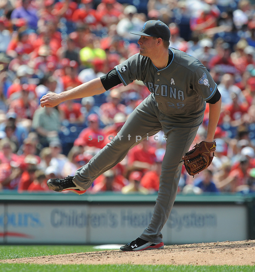 Arizona Diamondbacks Archie Bradley (25) during a game against the Philadelphia Phillies on June 19, 2016 at Citizens Bank Park in Philadelphia, PA. The Diamondbacks beat the Phillies 3-1.