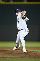Winston-Salem Dash relief pitcher Will Kincanon (27) in action against the Lynchburg Hillcats at BB&T Ballpark on May 9, 2019 in Winston-Salem, North Carolina. The Dash defeated the Hillcats 4-1. (Brian Westerholt/Four Seam Images)