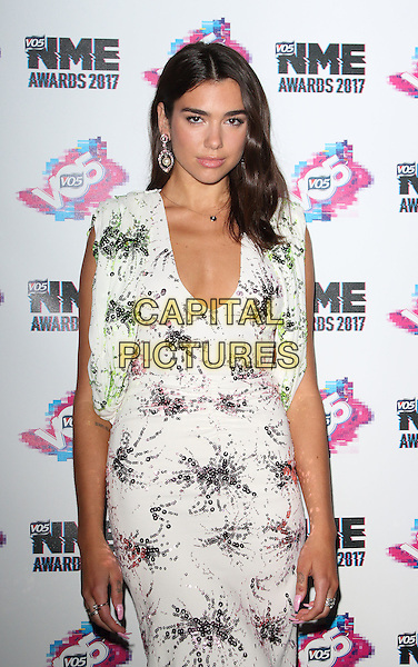 Dua Lipa at The VO5 NME Awards 2017 at the O2 Academy, Brixton, London on February 15th 2017<br /> CAP/ROS<br /> &copy;Steve Ross/Capital Pictures