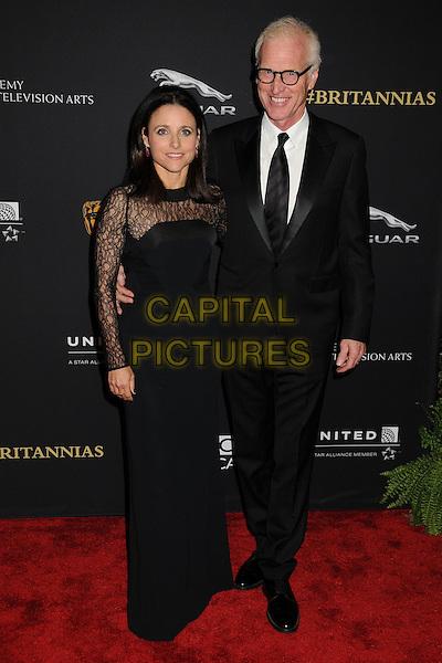 30 October 2014 - Beverly Hills, California - Julia Louis-Dreyfus, Brad Hall. BAFTA Britannia Awards 2014 held at the Beverly Hilton Hotel.  <br /> CAP/ADM/BP<br /> &copy;Byron Purvis/AdMedia/Capital Pictures