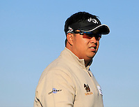 Kiradech Aphibarnrat (THA) on the 11th tee during Round 2 of the 2015 Alfred Dunhill Links Championship at Kingsbarns in Scotland on 2/10/15.<br /> Picture: Thos Caffrey | Golffile