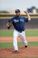 Seattle Mariners relief pitcher Danny Garcia (75) during a Minor League Spring Training game against the San Diego Padres at Peoria Sports Complex on March 24, 2018 in Peoria, Arizona. (Zachary Lucy/Four Seam Images)