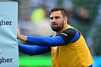 Elliott Stooke of Bath Rugby looks on during the pre-match warm-up. Gallagher Premiership match, between Bath Rugby and Gloucester Rugby on September 8, 2018 at the Recreation Ground in Bath, England. Photo by: Patrick Khachfe / Onside Images