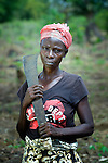 "Beatrice Sawyedeh, 57, is one of several dozen women who work together to grow cassava on a six-acre farm in Mount Barclay, Liberia. The income-generating project, called ""Say No to Poverty,"" is administered by the National Federation of Women Employees and Allied Workers, with financial support from United Methodist Women."