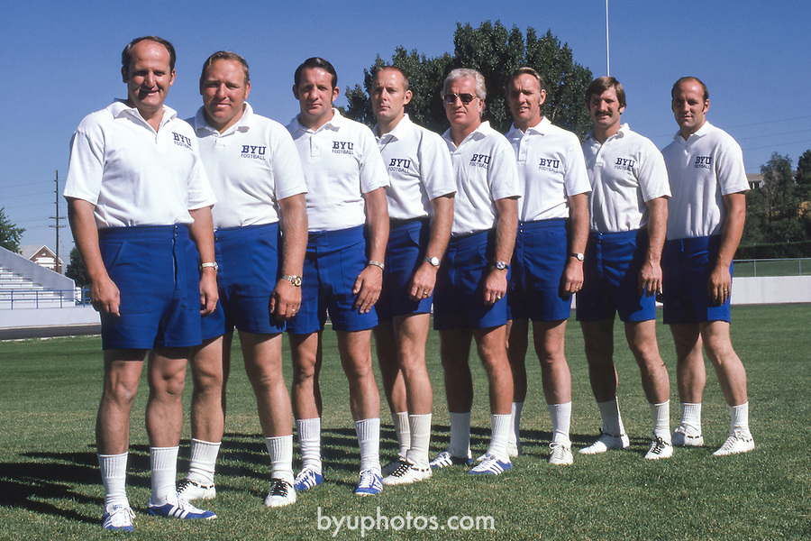 AUG 74 Coaching Staff<br /> <br /> FTB Slides 1967-75<br /> <br /> FTB 1976<br /> <br /> January 4, 2017<br /> <br /> Photography by Mark Philbrick/BYU<br /> <br /> Copyright 2016 BYU Photo<br /> All Rights Reserved<br /> (801)422-7322