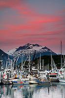 Valdez boat harbor, Valdez,  Prince William Sound,  Alaska.