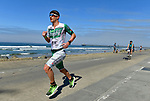OCEANSIDE, CA - APRIL 7:  Lionel Sanders of Canada runs during the IRONMAN 70.3 Oceanside Triathlon on April 7, 2018 in Oceanside, California. (Photo by Donald Miralle for IRONMAN)