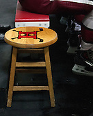 The Harvard bench isn't quite long enough so one player is stuck with alternate seating. - The Harvard University Crimson defeated the Princeton University Tigers 3-2 on Friday, January 31, 2014, at the Bright-Landry Hockey Center in Cambridge, Massachusetts.