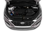 Car stock 2019 Hyundai Tucson SEL 5 Door SUV engine high angle detail view