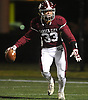 Tyler Wuchte #33 reacts after catching a pass for a 31-yard touchdown in the second quarter of the Nassau County Conference II varsity football final against Mepham at Hofstra University on Friday, Nov. 17, 2017. Garden City won by a score of 33-0.