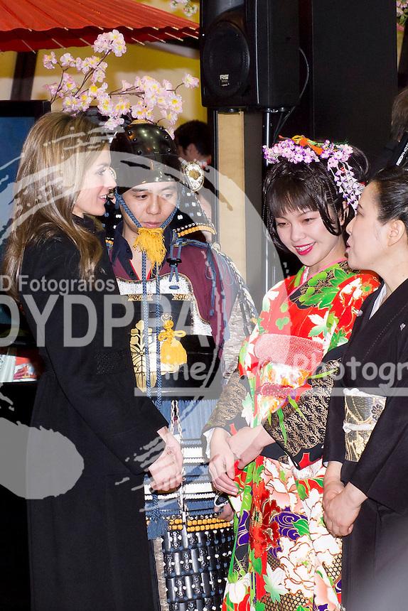 30.01.2013. IFEMA. Madrid. Spain. The Princes of Asturias, Felipe and Letizia inaugurate the  FITUR 2013, tourism fair. In the picture: Princess Letizia. (C) Ivan L. Naughty / DyD Fotografos//