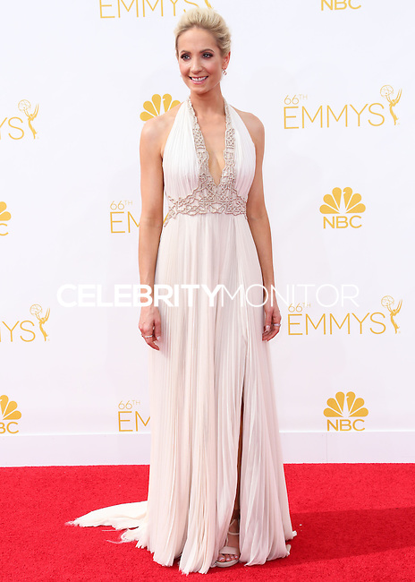 LOS ANGELES, CA, USA - AUGUST 25: Actress Joanne Froggatt arrives at the 66th Annual Primetime Emmy Awards held at Nokia Theatre L.A. Live on August 25, 2014 in Los Angeles, California, United States. (Photo by Celebrity Monitor)