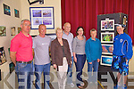 At the launch of the Underwater photo exhibition in Portmagee on Saturday as part of the Dive & Jive Weekend organised by Portmagee GEOFEST were l-r; Gearoid Moran, Paschal Dower(Kerry Sub Aqua Club), Eileen Wheelan, John Murphy, Marie O'Connell(Organiser), Elisabeth Lynch(Director GEOPARK's Portmagee) & Rachel Doyle.  Paschal Dower also gave a talk and slide show on Kerry's Underwater wildlife.