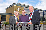 Colm McEvoy, CEO Kerry Education and Training Board, Edward O'Neill, Buildings Officer Kerry Education and Training Board, Jim Finucane, Chairman of Kerry Education and Training Board, announce funding for the redevelopment of Tralee Community College and the new Post primary school Colaiste Gleann Li on Tuesday