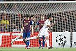 AC Milan's Thiago Silva scores in the last minute during Champions League match on september 13th 2011...Photo: Cesar Cebolla / ALFAQUI