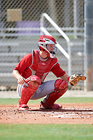 GCL Cardinals catcher Zach Jackson (39) during a game against the GCL Mets on July 23, 2017 at Roger Dean Stadium Complex in Jupiter, Florida.  GCL Cardinals defeated the GCL Mets 5-3.  (Mike Janes/Four Seam Images)