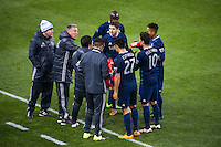 BRONX, NY - Saturday April 9, 2016: The New York Red Bulls take on Sporting Kansas City at home at Red Bull Arena during the 2016 MLS regular season.