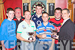Competing in the O'Donoghue/Ring cup Darts tournament in Con's Bar, Castleisland on Friday evening was l-r: David Conroy, Mike Begley, Denis Mahony, William Keane, John Begley, Danny Sullivan and Billy O'Connor Con's Bar Manager