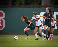 STANFORD, CA - August 10, 2018: Beattie Goad, Tierna Davidson at Laird Q. Cagan Stadium. The Stanford Cardinal defeated the Fresno State Bulldogs 4-0.