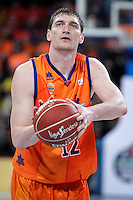Valencia Basket Club's Serhiy Lishchuk during Spanish Basketball King's Cup semifinal match.February 07,2013. (ALTERPHOTOS/Acero) /NortePhoto