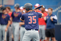 Jared Kelley (35) during the Under Armour All-America Game Practice, powered by Baseball Factory, on July 21, 2019 at Les Miller Field in Chicago, Illinois.  Jared Kelley attends Refugio High School in Refugio, Texas and is committed to the University of Texas.  (Mike Janes/Four Seam Images)