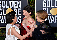 LOS ANGELES, CA. January 06, 2019: Phoebe Waller-Bridge, Sandra Oh & Jodie Comer  at the 2019 Golden Globe Awards at the Beverly Hilton Hotel.<br /> Picture: Paul Smith/Featureflash