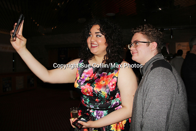 Opening Night of Ken Ludwig's The Three Musketeers, an epic adventure at Pennsylvania Shakespeare Festival on July 14, 2017 starring Ilia Paulino who takes a selfie with Kameron Maxwell (Photos by Sue Coflin/Max Photos)