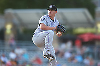 Grand Junction Rockies relief pitcher Trysten Barlow (37) during a Pioneer League game against the Grand Junction Rockies at Dehler Park on August 15, 2019 in Billings, Montana. Billings defeated Grand Junction 11-2. (Zachary Lucy/Four Seam Images)