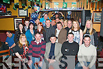 SEVEN 0 SEVENTY: Paddy Flynn, Kerin's Park, Tralee (seated centre) had a great night in the Munster bar, Tralee celebrating his 70th birthday last Saturday along with many friends and family.