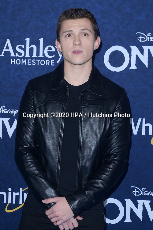 "LOS ANGELES - FEB 18:  Tom Holland at the ""Onward"" Premiere at the El Capitan Theater on February 18, 2020 in Los Angeles, CA"