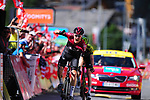 Dylan van Baarle (NED) Team Ineos wins Stage 8 of the Criterium du Dauphine 2019, running 113.5km from Cluses to Champery, Switzerland. 16th June 2019.<br /> Picture: Colin Flockton | Cyclefile<br /> All photos usage must carry mandatory copyright credit (© Cyclefile | Colin Flockton)