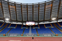 The empty stands. The match is played without spectators due to racist chants of Lazio fans during a match against Sparta Praga in 2016 . <br /> La gara si gioca a porte chiuse a causa di cori razzisti dei tifosi della lazio durante l'incontro contro lo Sparta Praga del 2016<br /> Roma 28-09-2017 Stadio Olimpico Football Europa League 2017/2018 Group K Lazio - Zulte Waregem Foto Giampiero Sposito/Insidefoto