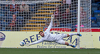 Goalkeeper Matt Ingram of Wycombe Wanderers reaches for the ball during the Sky Bet League 2 match between Wycombe Wanderers and Northampton Town at Adams Park, High Wycombe, England on 3 October 2015. Photo by Andy Rowland.