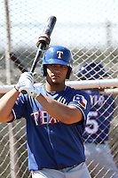 Cristian Santana, Texas Rangers minor league spring training..Photo by:  Bill Mitchell/Four Seam Images.