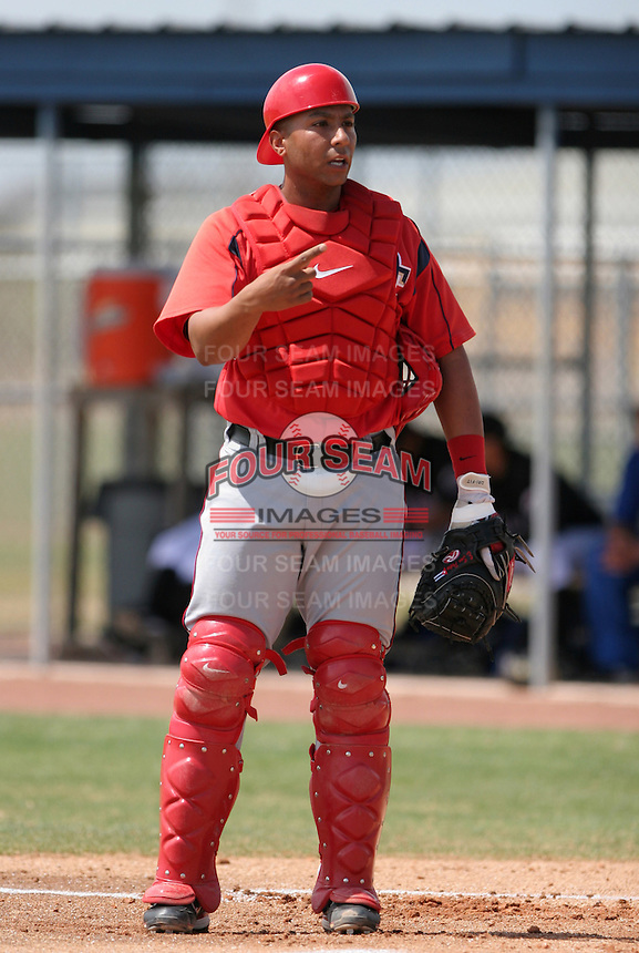 Washington Nationals minor leaguer Erick San Pedro during Spring Training at the Carl Barger Training Complex on March 20, 2007 in Melbourne, Florida.  (Mike Janes/Four Seam Images)