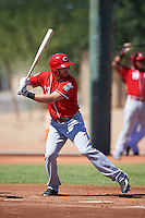 Cincinnati Reds Taylor Sparks (23) during an Instructional League game against the Chicago White Sox on October 11, 2016 at the Cincinnati Reds Player Development Complex in Goodyear, Arizona.  (Mike Janes/Four Seam Images)