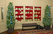 """Decorations in the China Room (also known as the Dish Room) as part of the 2015 White House Christmas theme """"A Timeless Tradition"""" at the White House in Washington, DC on Wednesday, December 2, 2015. <br /> Credit: Ron Sachs / CNP"""