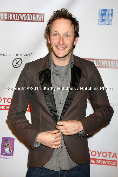 LOS ANGELES - FEB 20:  Christopher Redman arrives at the 24 Hour Hollywood Rush at Ebell Theater on February 20, 2011 in Los Angeles, CA