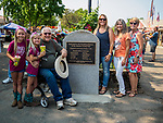 Generations of the Cooper family at the dedication of the new monument to the original founders of the fair during the opening of the 80th Amador County Fair, Plymouth, Calif.<br /> .<br /> .<br /> .<br /> .<br /> #AmadorCountyFair, #1SmallCountyFair, #PlymouthCalifornia, #TourAmador, #VisitAmador
