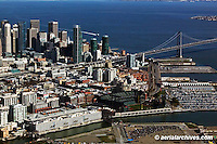 aerial photograph 185 Berry Street Giants stadium San Francisco, California