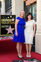 LOS ANGELES - AUG 22: Valerie Bertinelli, Dana Fiser (Jenny Craig CEO) at a ceremony where Valerie Bertinelli is honored with a star on the Hollywood Walk of Fame on August 22, 2012 in Los Angeles, California