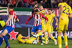 Fernando Torres of Atletico de Madrid battles for the ball with FC Rostov players during their 2016-17 UEFA Champions League match between Atletico Madrid and FC Rostov at the Vicente Calderon Stadium on 01 November 2016 in Madrid, Spain. Photo by Diego Gonzalez Souto / Power Sport Images