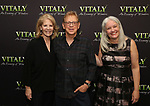 Daryl Roth, Peter Askin and Terry Byrne attends the Off-Broadway Opening Night arrivals for 'Vitaly: An Evening of Wonders' at the Westside Theatre on June 20, 2018 in New York City.