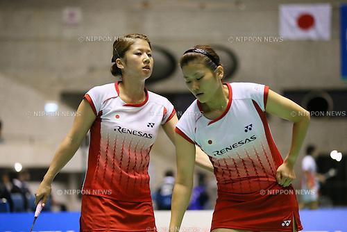 Mizuki Fujii & Reika Kakiiwa (JPN), .SEPTEMBER 20, 2012 - Badminton : .Yonex Open Japan 2012 .Women's Doubles .at 1st Yoyogi Gymnasium, Tokyo, Japan. .(Photo by YUTAKA/AFLO SPORT) [1040]