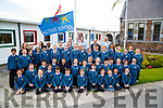 Marc O Sé who was invited by 4th Class pupils of Scoil Eoin Balloonagh to raise the Active School Flag on Wednesday